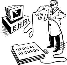 electronic health record cartoon