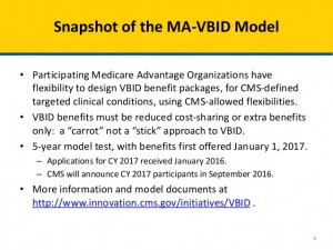 Value Based Model for Medicare Part C