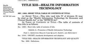 What is the HITECH Act? Introduction for the Novice